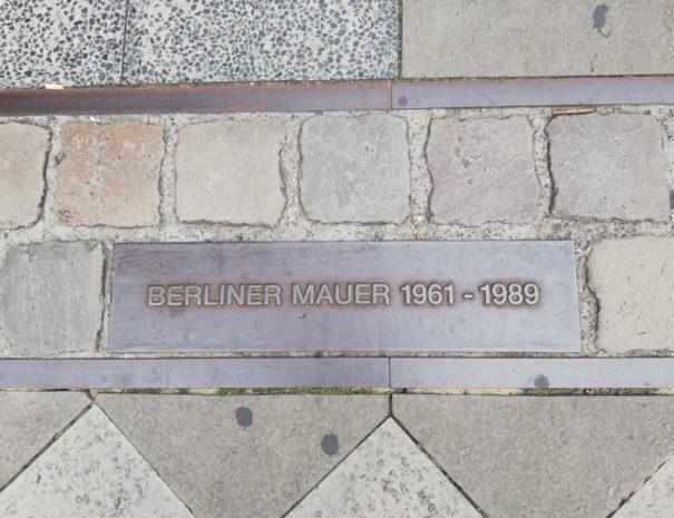 Berliner Mauer border
